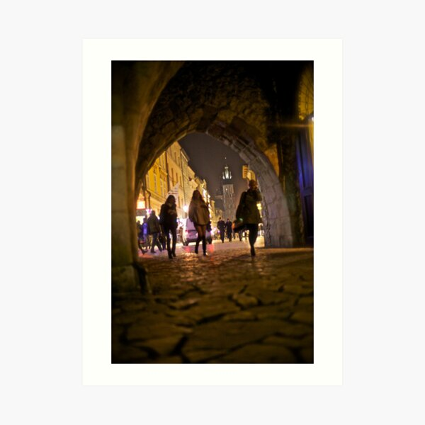 St. Florian's Gate . Brama Floriańska) in Kraków, Poland . of the best-known Polish Gothic towers, and a focal point of Kraków's Old Town. by Brown Sugar. Art Print