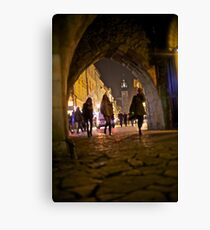 St. Florian's Gate . Brama Floriańska) in Kraków, Poland . of the best-known Polish Gothic towers, and a focal point of Kraków's Old Town. by Brown Sugar. Canvas Print