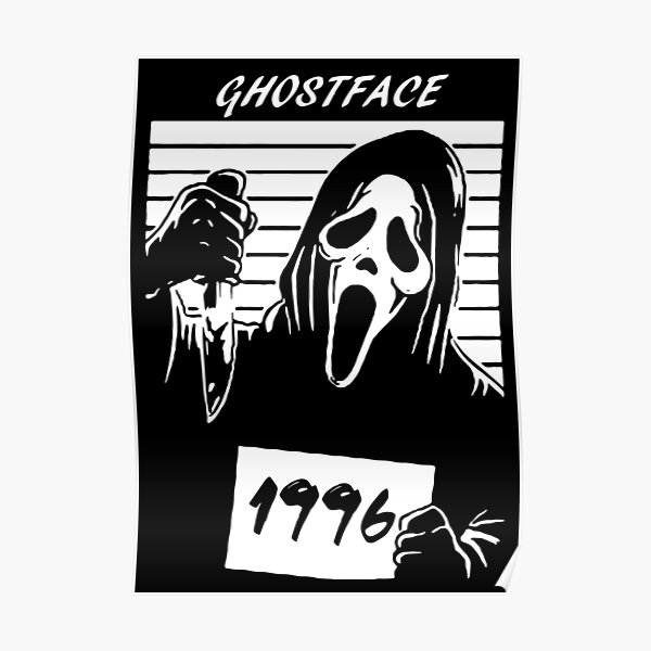 Ghost face horror movie Poster