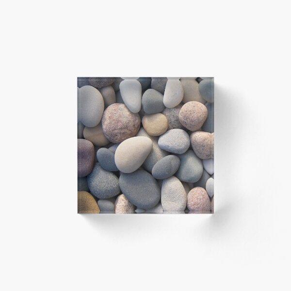Beach Pebbles Acrylic Block