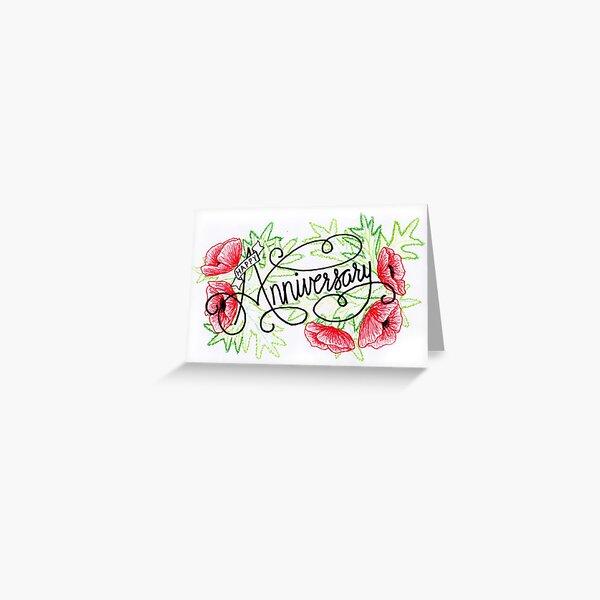 Hand drawn Anniversary Card Greeting Card