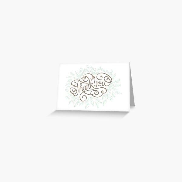 Hand drawn Thank You card Greeting Card