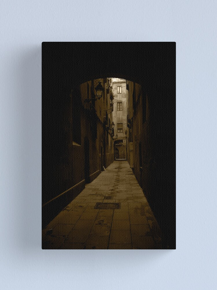 Alternate view of Barcelona Alley Canvas Print
