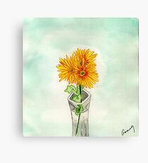 Chrysanthemums from Sue Canvas Print