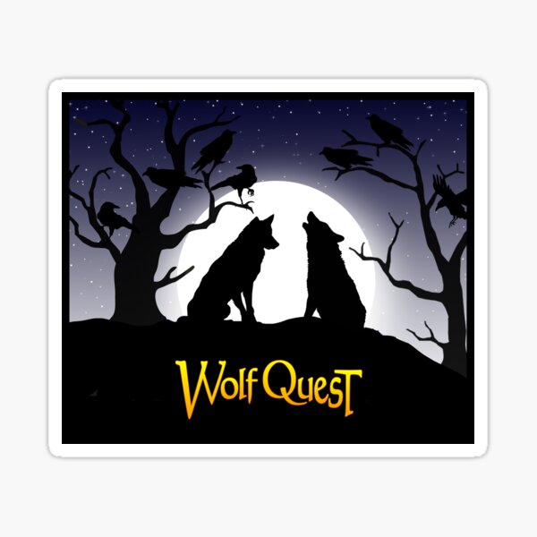 Full Moon Wolves & Ravens - WolfQuest Dream Sticker