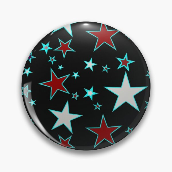 Star pattern acrylic blocks and coasters - red, white and blue on black Pin