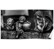 Three Cherubs -- Miami Cemetery Poster