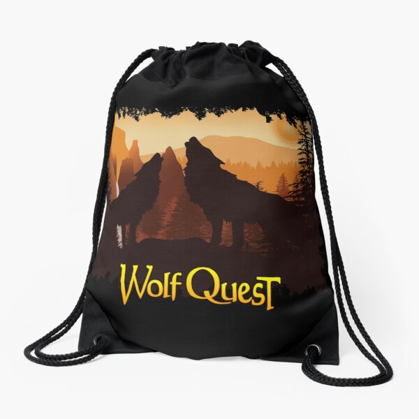 Tower Fall Howl - WolfQuest Dream Drawstring Bag