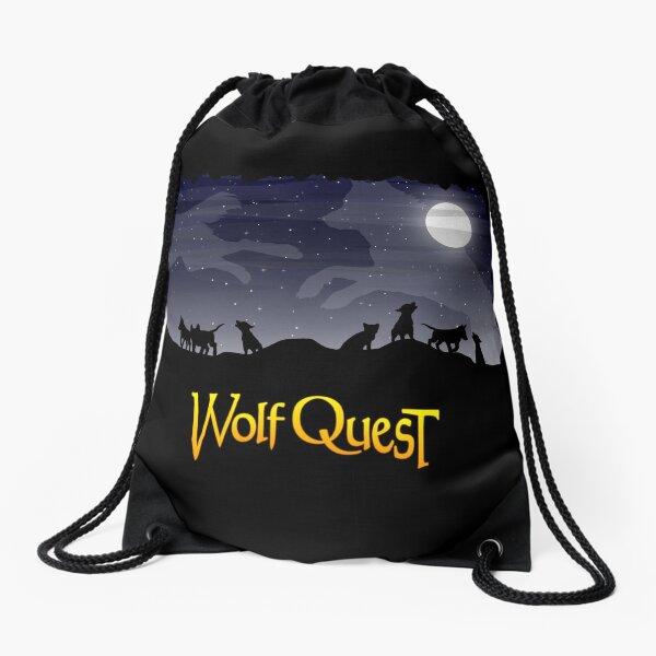 Night Sky Pups - WolfQuest Dream Drawstring Bag