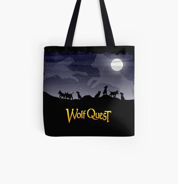 Night Sky Pups - WolfQuest Dream All Over Print Tote Bag