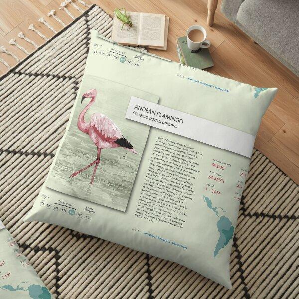 Flamingo Poster Floor Pillow