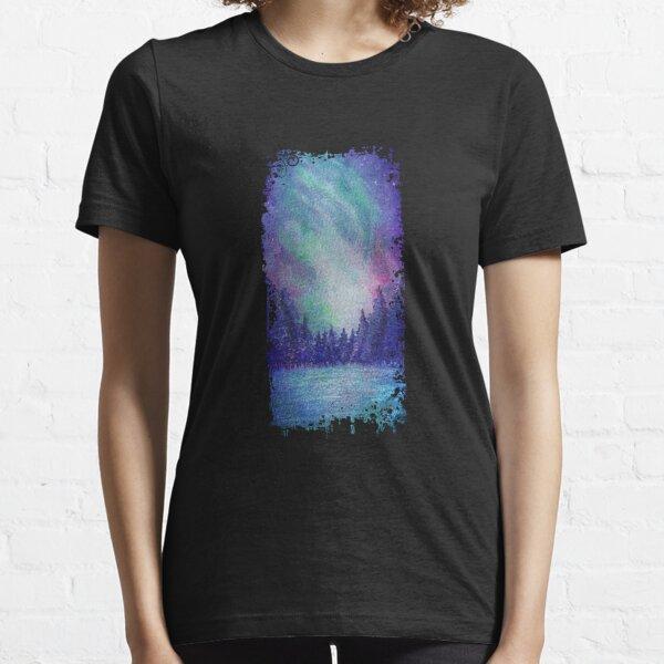 Watercolor Aurora Borealis Essential T-Shirt