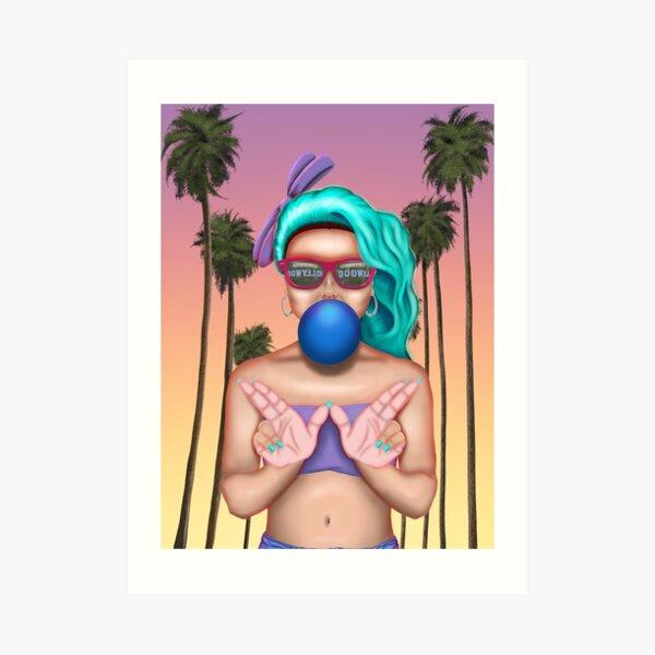 West Coast Cali Girl Art Print