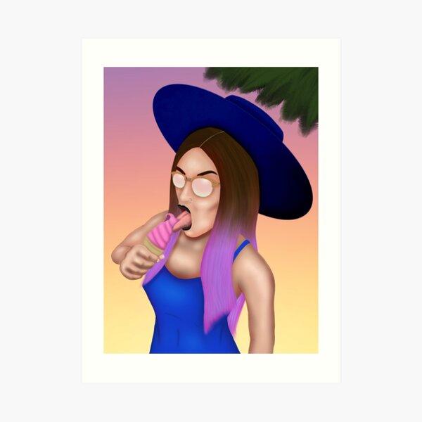 Witch Craft Cali Girl Art Print