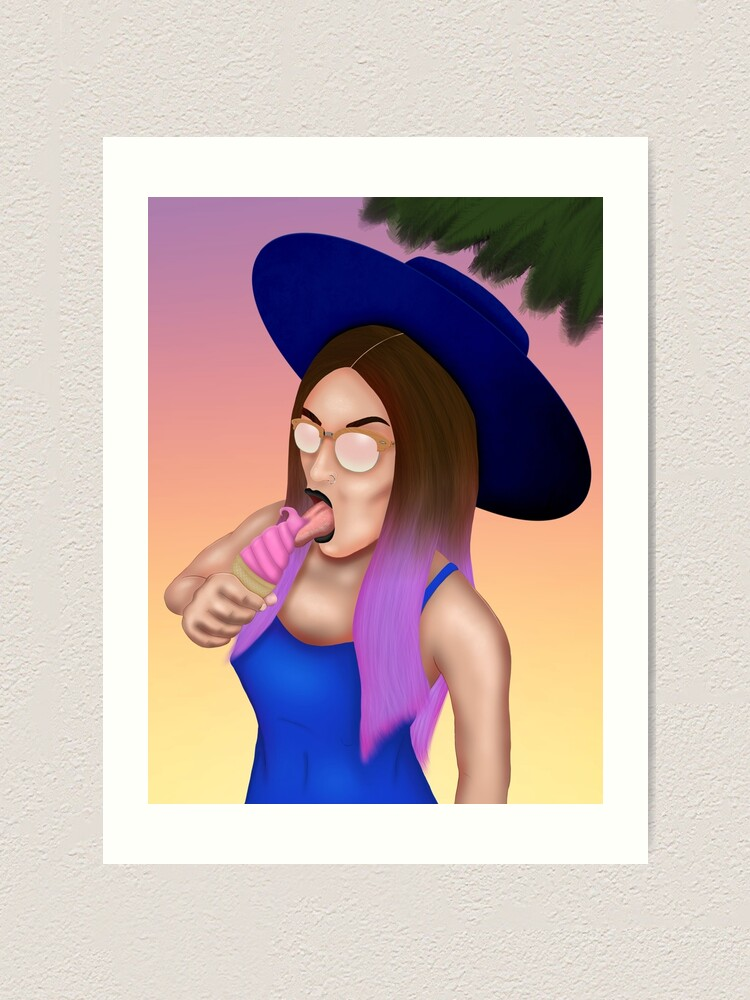 Alternate view of Witch Craft Cali Girl Art Print
