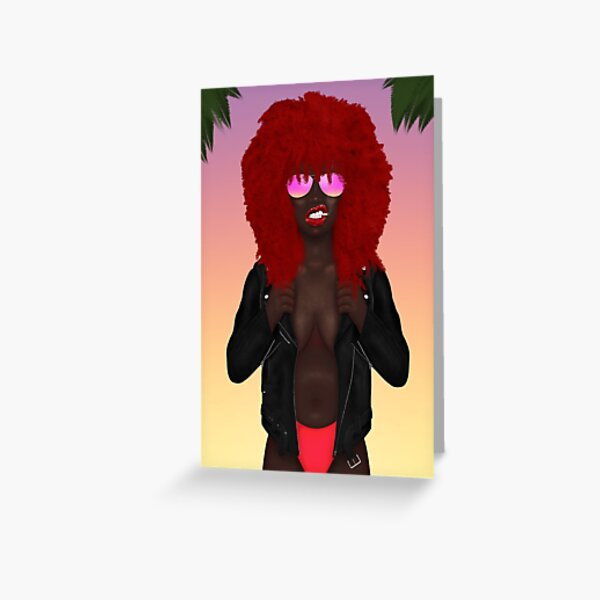 Wild Child Cali Girl Greeting Card