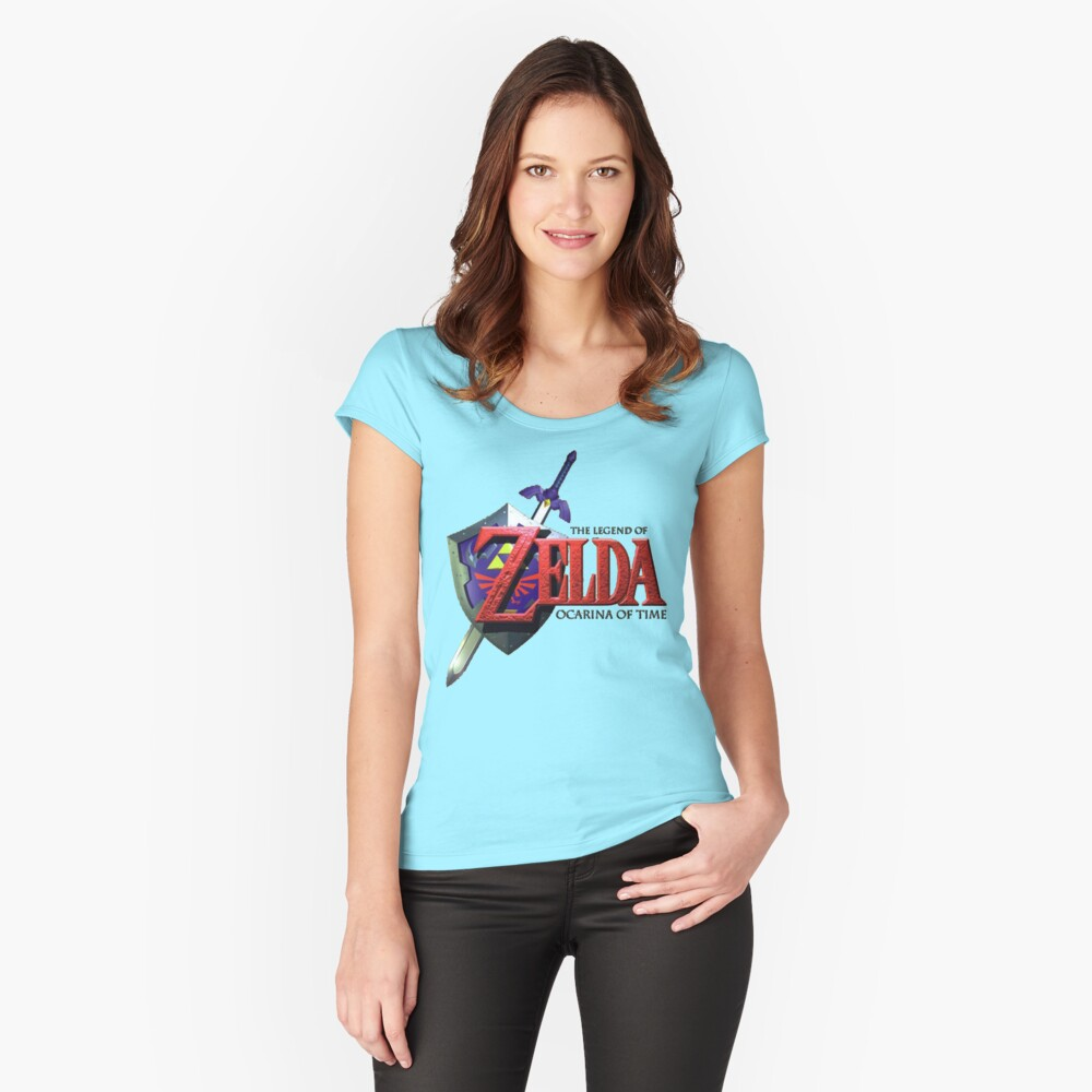 Legend Of Zelda Ocarina Of Time Women's Fitted Scoop T-Shirt Front