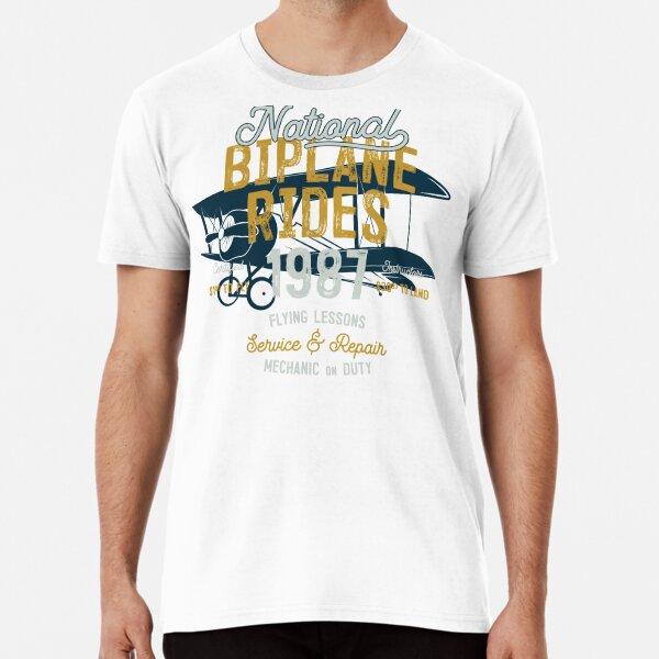 National Biplane Rides Camiseta premium