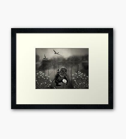 His First Library.... Framed Print