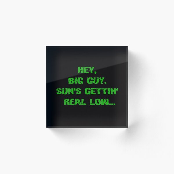 Sun's getting real low Acrylic Block