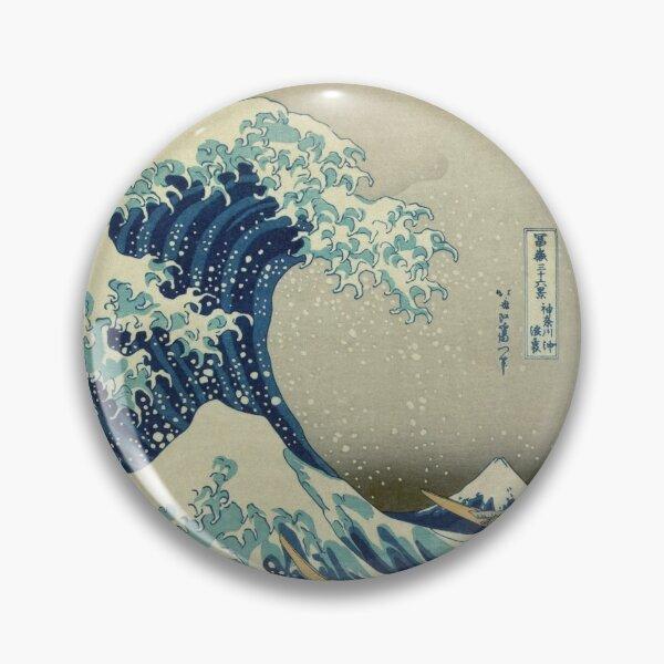 Great Wave off Kanagawa circle Pin