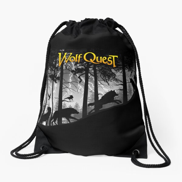 Wolf Pack in Storm - WolfQuest Dream Drawstring Bag