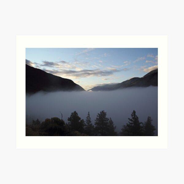 Fog on the Highway Art Print