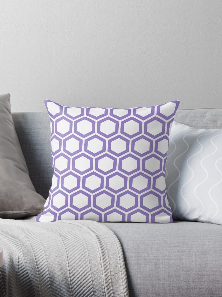 Lavander honeycomb pattern on white background by ImageNugget
