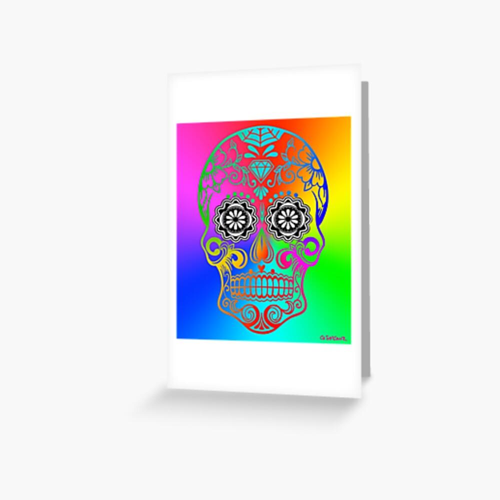 Sugar Skull - Calavera Greeting Card