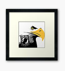 The American Eagle Remembers Framed Print