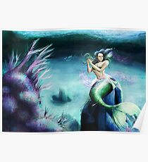 Mermaid in Tranquility Poster