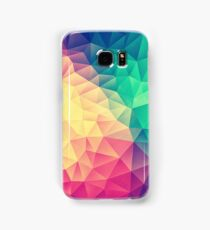 Abstract Polygon Multi Color Cubism Low Poly Triangle Design Samsung Galaxy Case/Skin