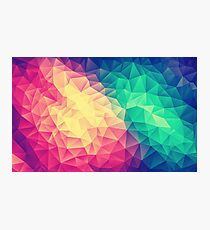 Abstract Polygon Multi Color Cubism Low Poly Triangle Design Photographic Print