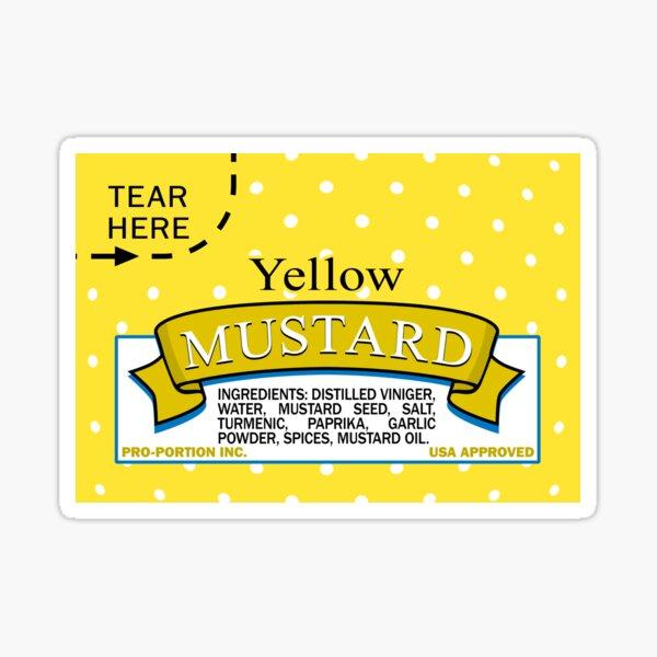 Mustard Pack Skin Sticker