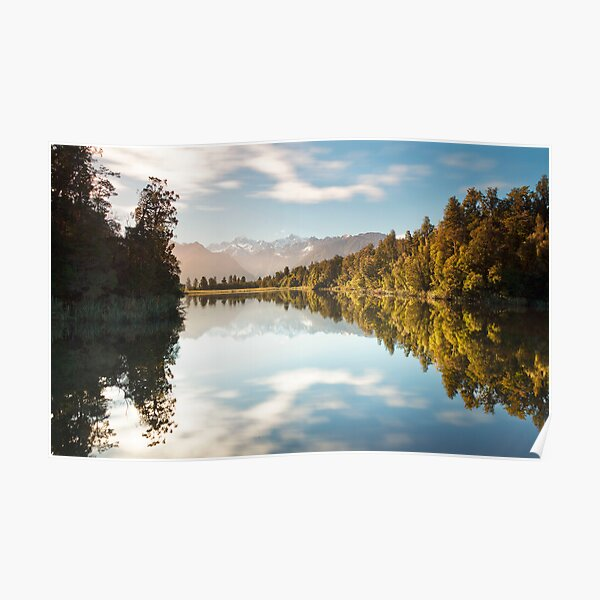 The Colors Of Lake Matheson Poster