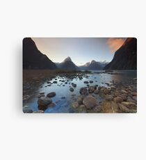 Symphony in Milford Sound Canvas Print