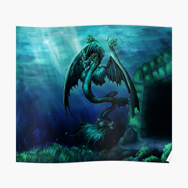 Leviathan Undersea Dragon Poster