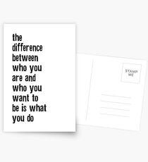 Wer bist du Zitat? Postkarten