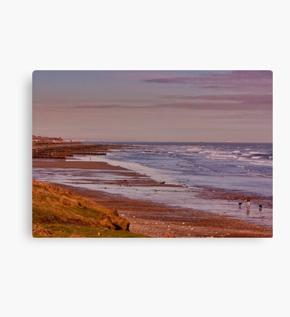 Redcar Beach Canvas Print