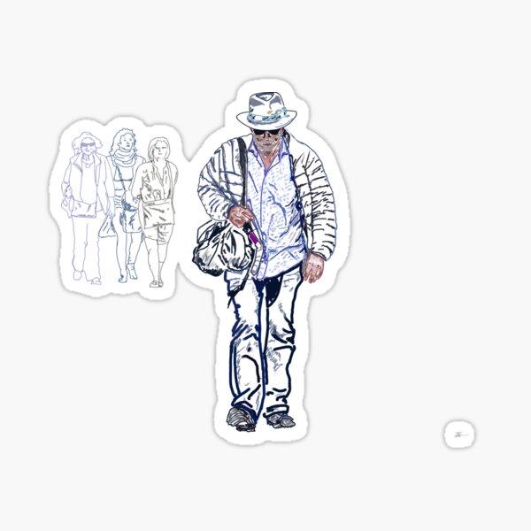 Walking with solitude Sticker