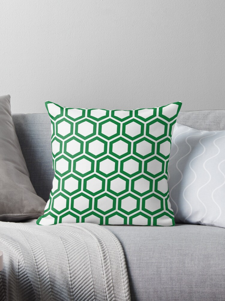 Green honeycomb pattern on white background by ImageNugget