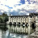 Chenonceau reflected in the River Cher by BonnieH