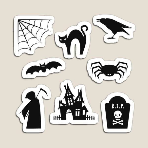 spooky sticker pack Magnet