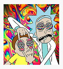 Rick and Morty Eyes Open Trip Photographic Print