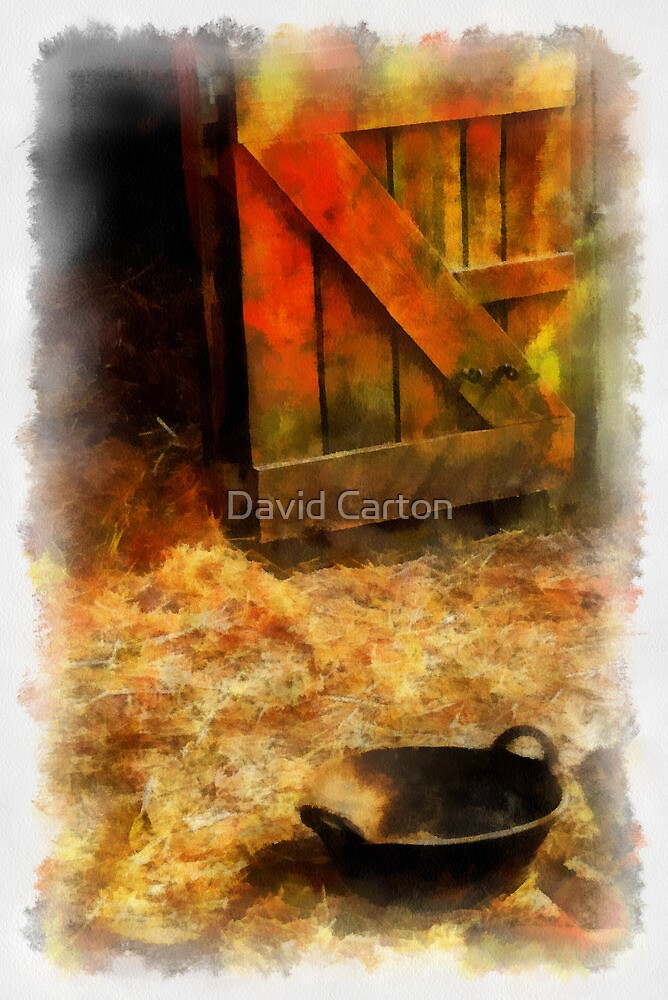 Inside the stable by David Carton