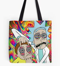 Rick and Morty Eyes Open Trip Tote Bag