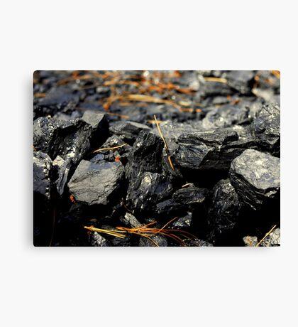 Coal Rocks Canvas Print