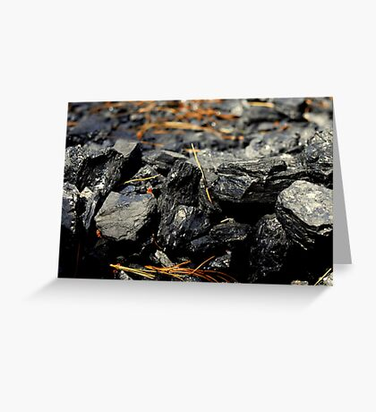 Coal Rocks Greeting Card
