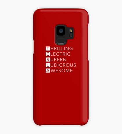 TESLA - Thrilling, Electric, Superb, Ludicrous, Awesome Case/Skin for Samsung Galaxy