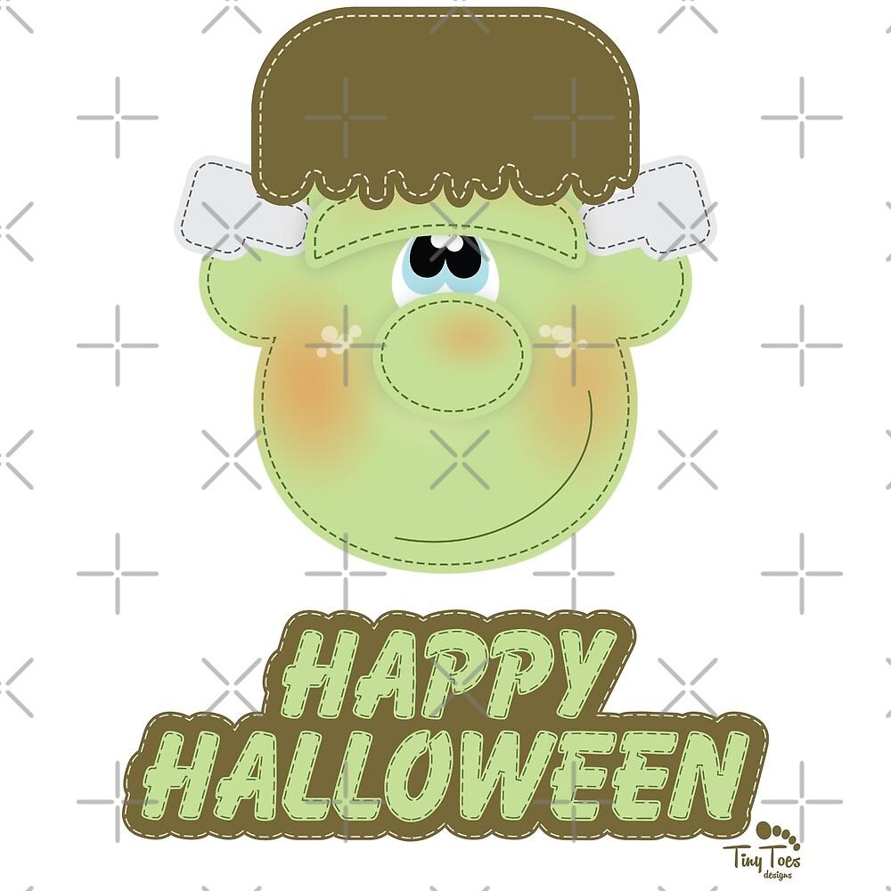 Cute Monster Happy Halloween by BadCatDesigns